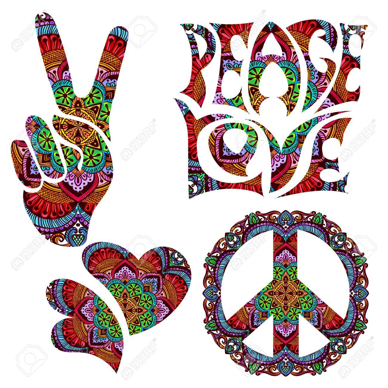retro hippie symbol - 149454598