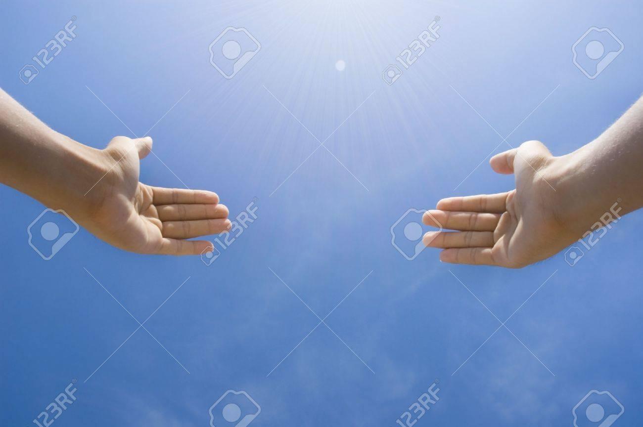 hands toward sky concept photo Stock Photo - 3416562