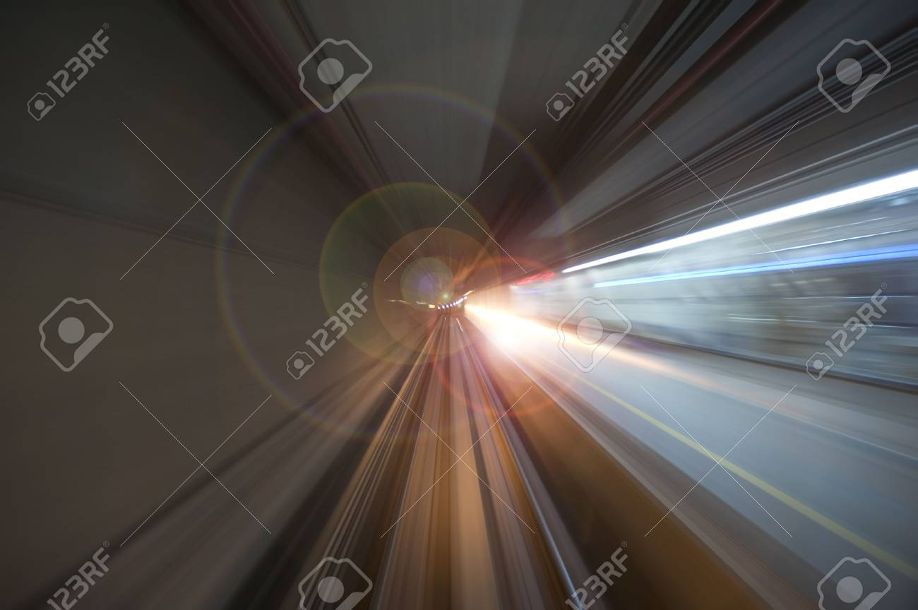 blurred motion tunnel Stock Photo - 3517877