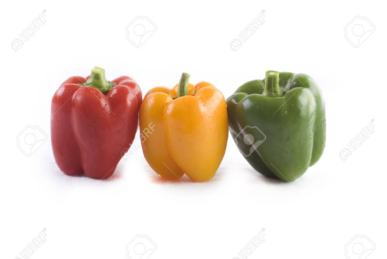 isolated peppers Stock Photo - 3518195