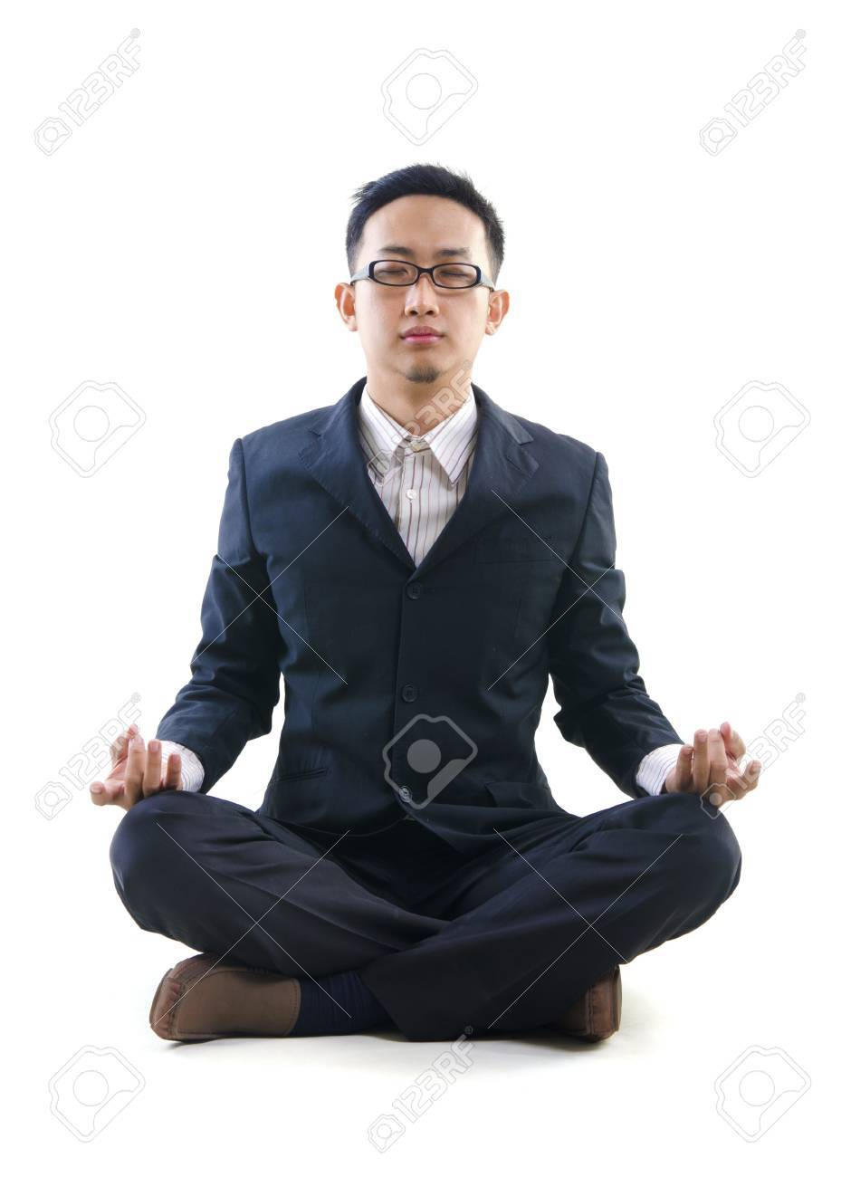 asian business yoga Stock Photo - 14657720