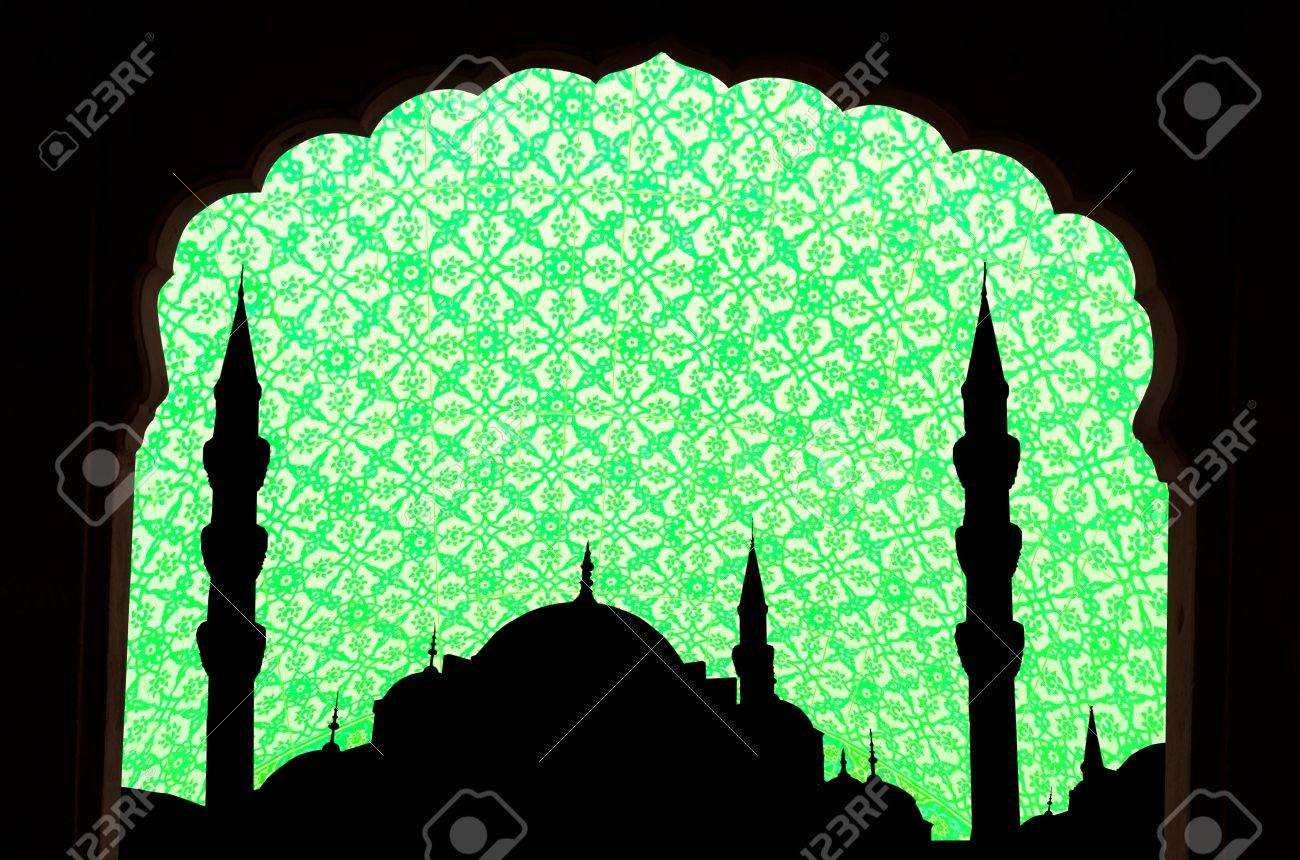 Grünton Halga Sophia Blaue Moschee Truthahn Mit Islamischen Design ...