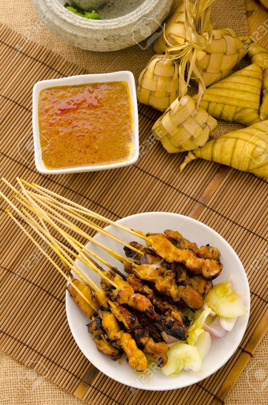 satay malay hari raya foods ,focus on satay Stock Photo - 14990248