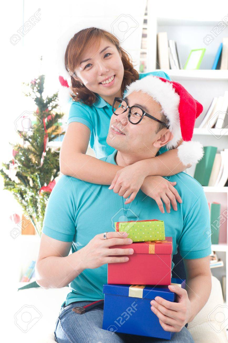 asia family christmas celebration, chinese south east asian people Stock Photo - 16790849