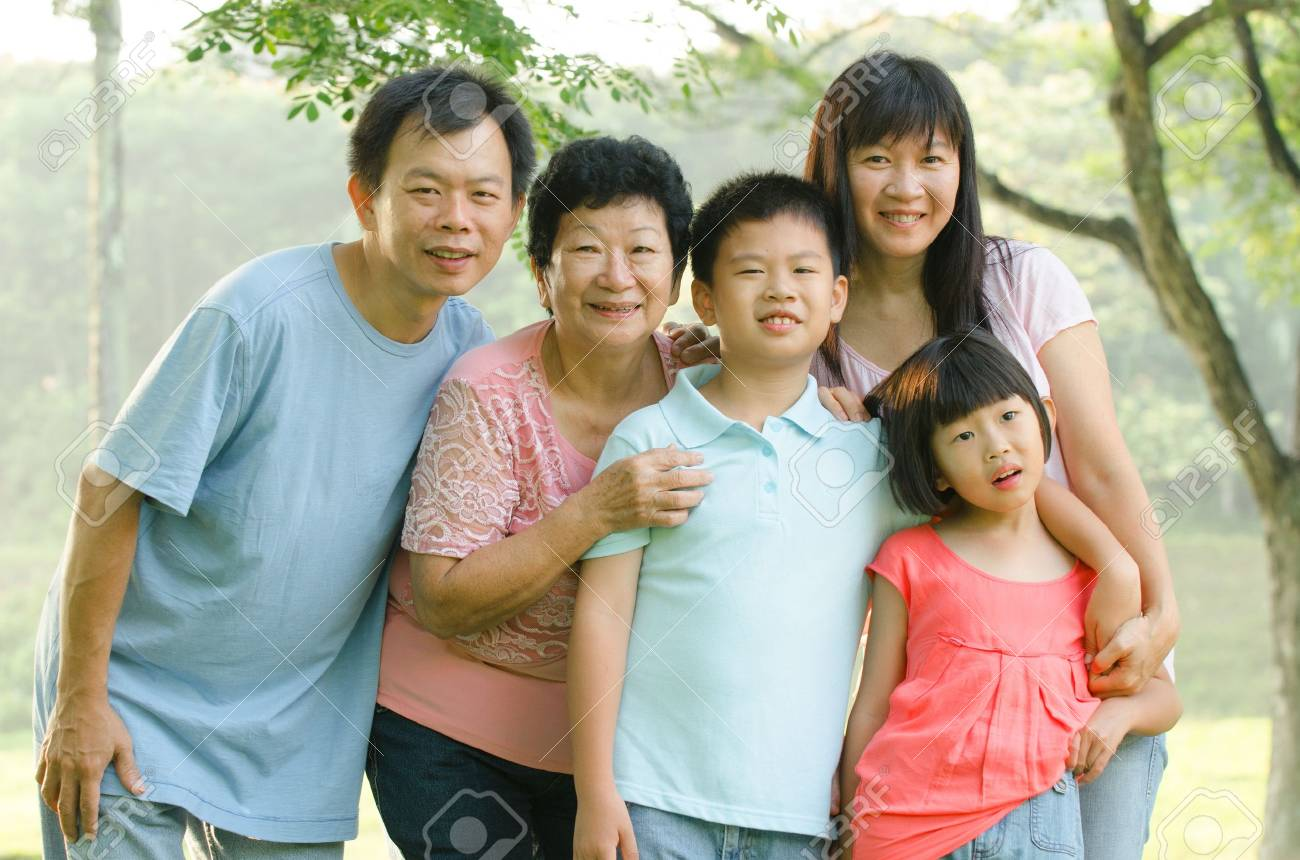 asian family outdoor quality time Stock Photo - 16926270