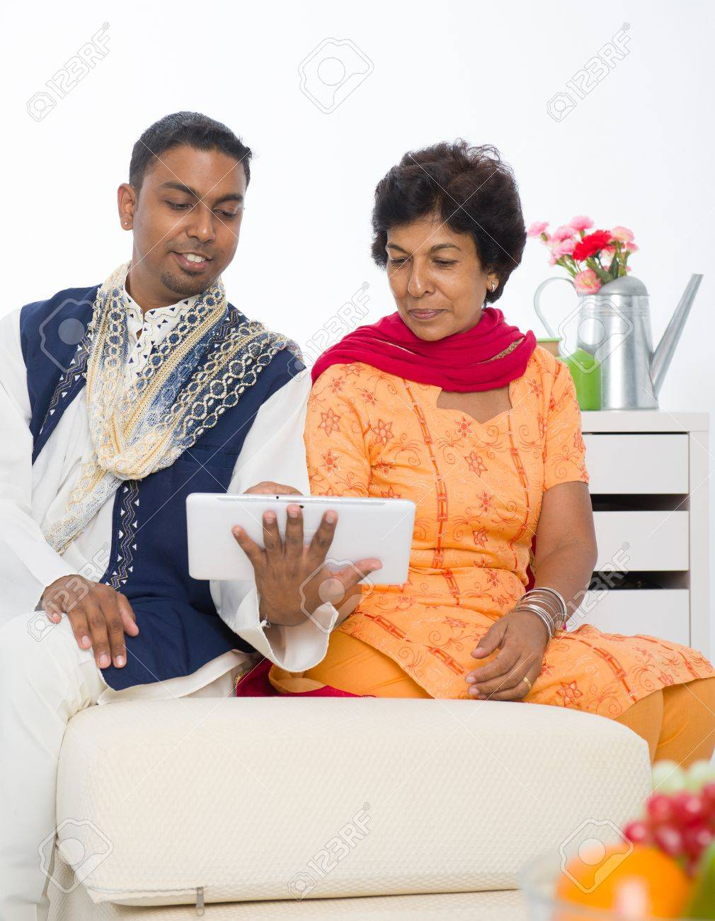 punjabi family ,mother and son with traditional punjab dress Stock Photo - 16988067