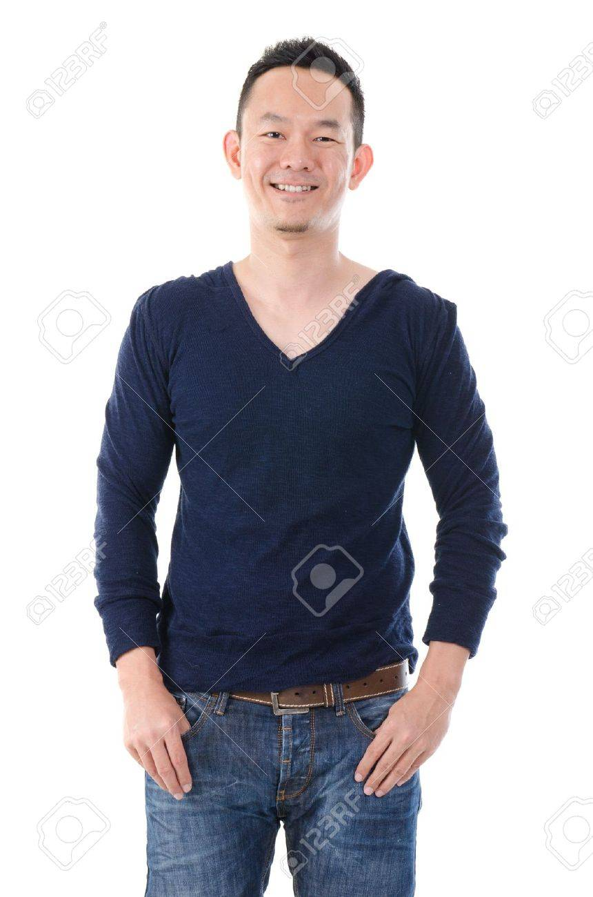 south east asian man in casual, chinese Stock Photo - 17046676