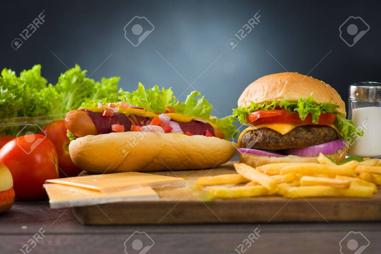 Burgers Hot Dogs Menu Cheese Burger And Hot Dogs
