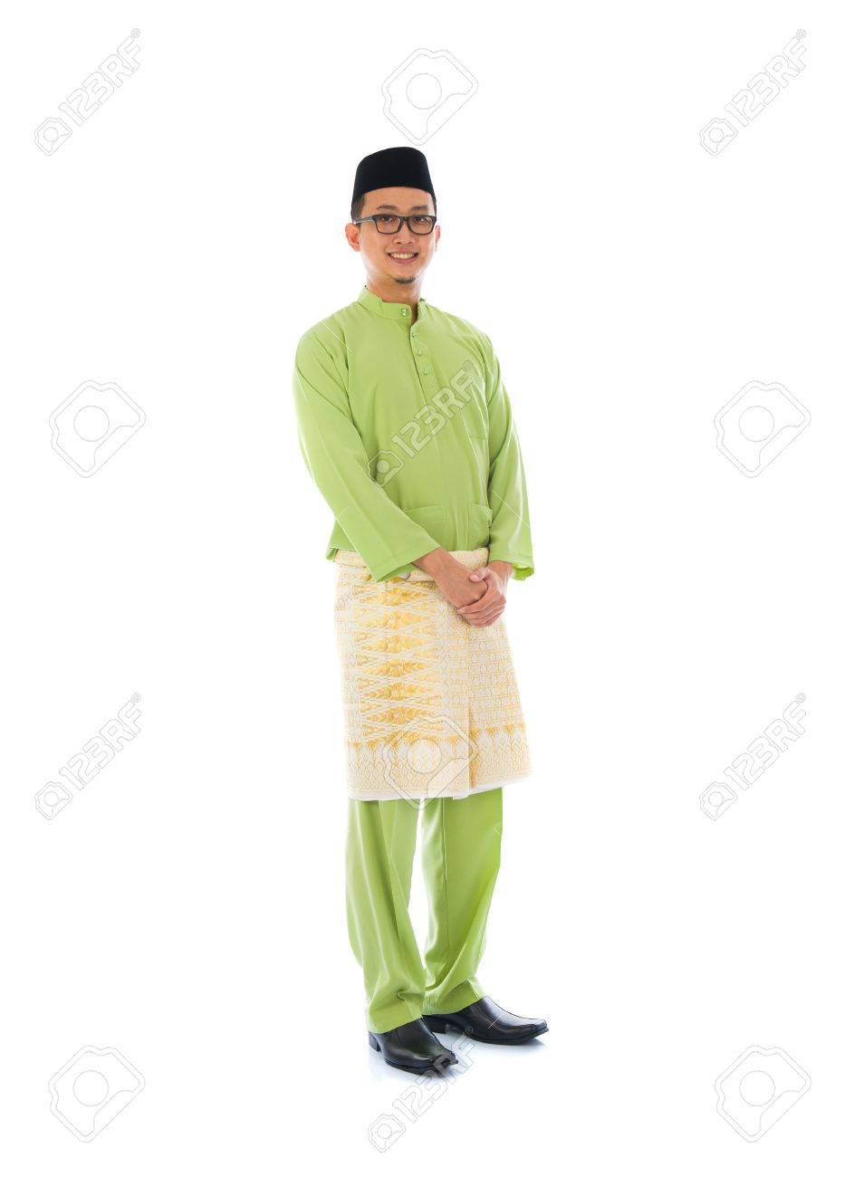 indonesian male during ramadan festival with isolated white background Stock Photo - 21373197