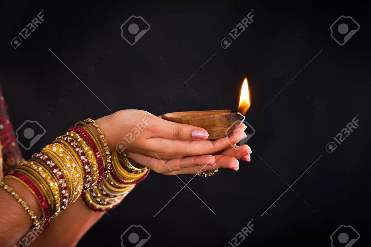 hand holding lantern during diwali festival of lights Stock Photo - 21577503