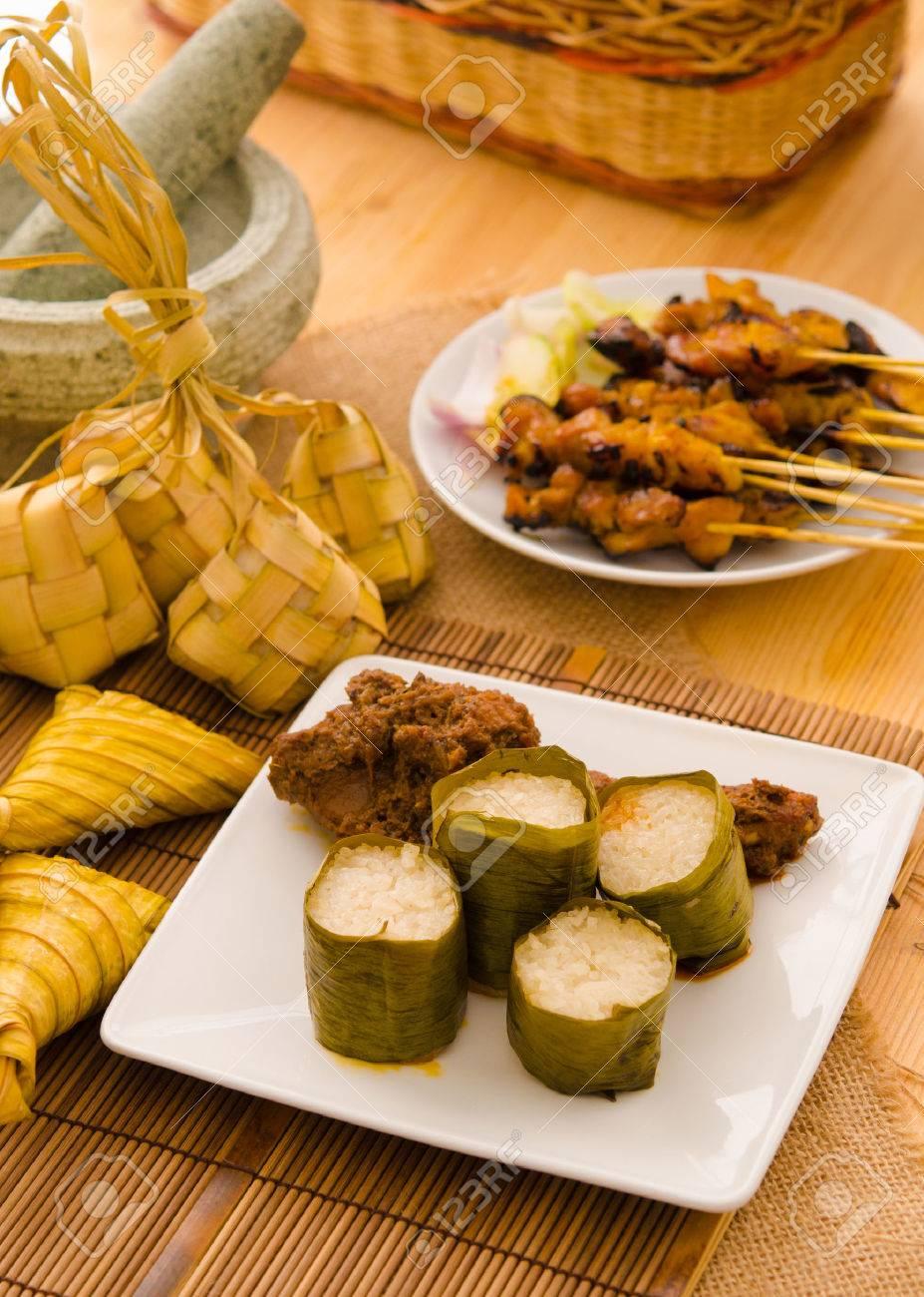malay hari raya foods lemang ,focus on lemang Stock Photo - 22626782