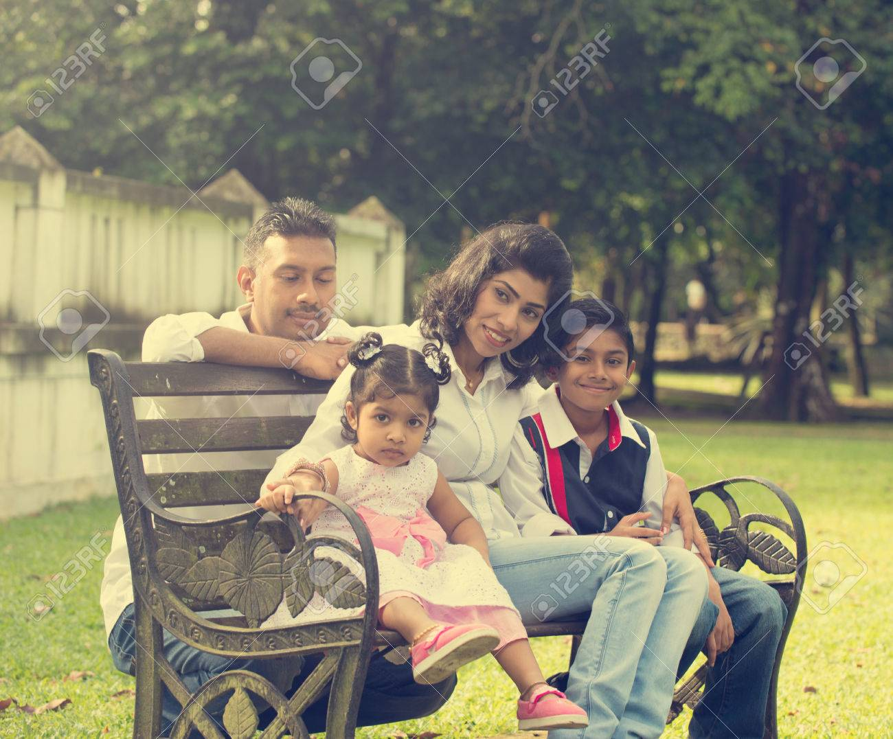 indian family enjoying quality time at outdoor park Stock Photo - 44643973
