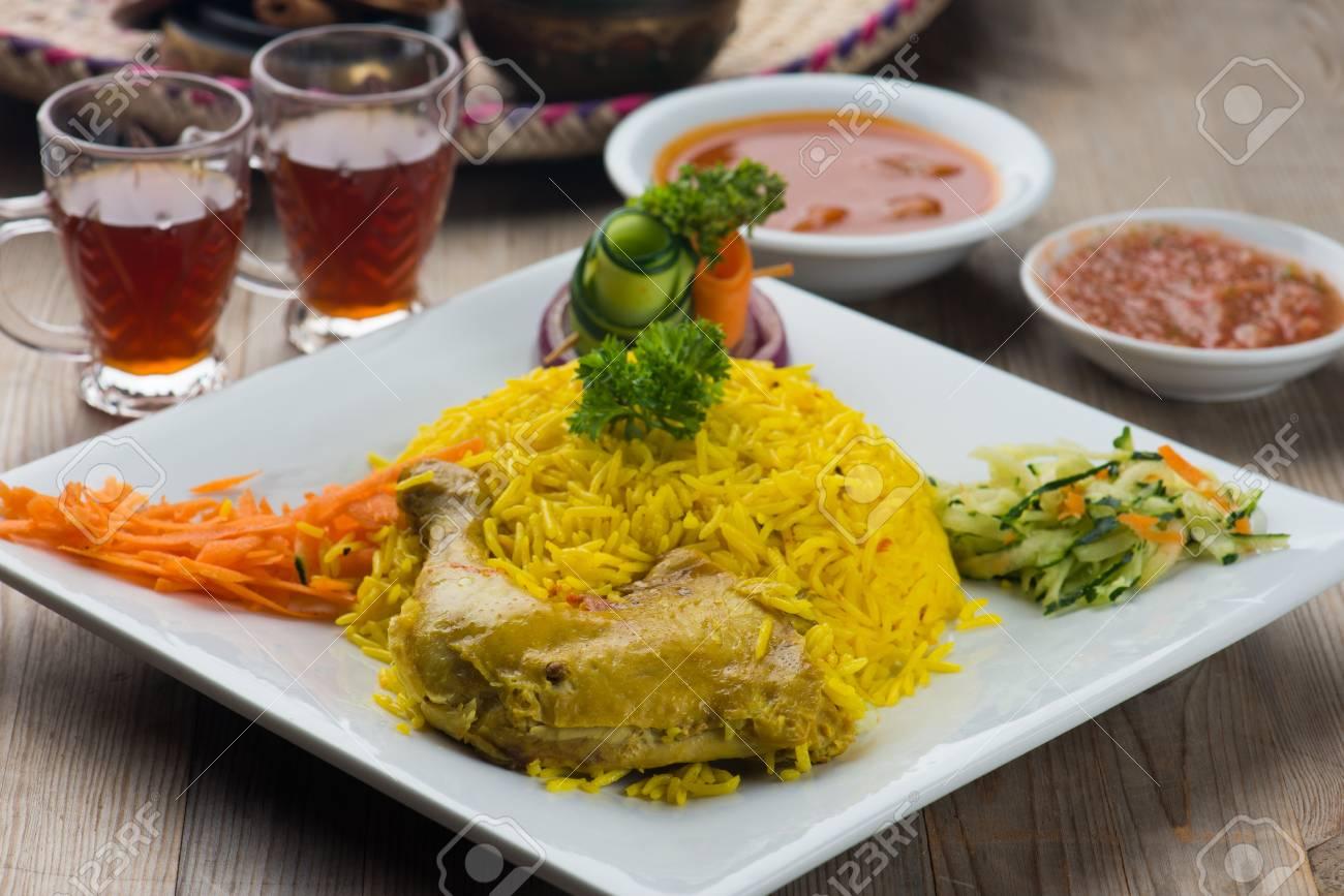 Chicken mandi traditional arab food stock photo picture and royalty chicken mandi traditional arab food stock photo 72923631 forumfinder Choice Image