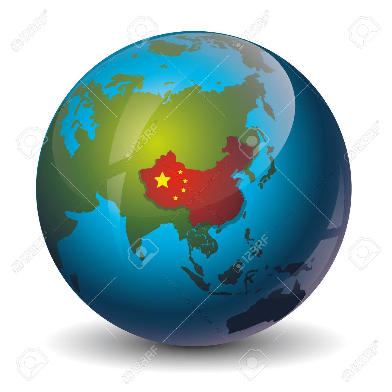 Icon of china map on the world map earth royalty free cliparts icon of china map on the world map earth stock vector 42030221 gumiabroncs Gallery