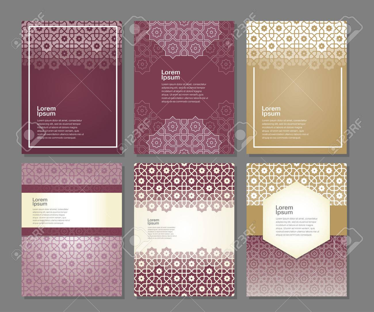 Banners set of templates with arabic ornament, vector illustration - 50913462