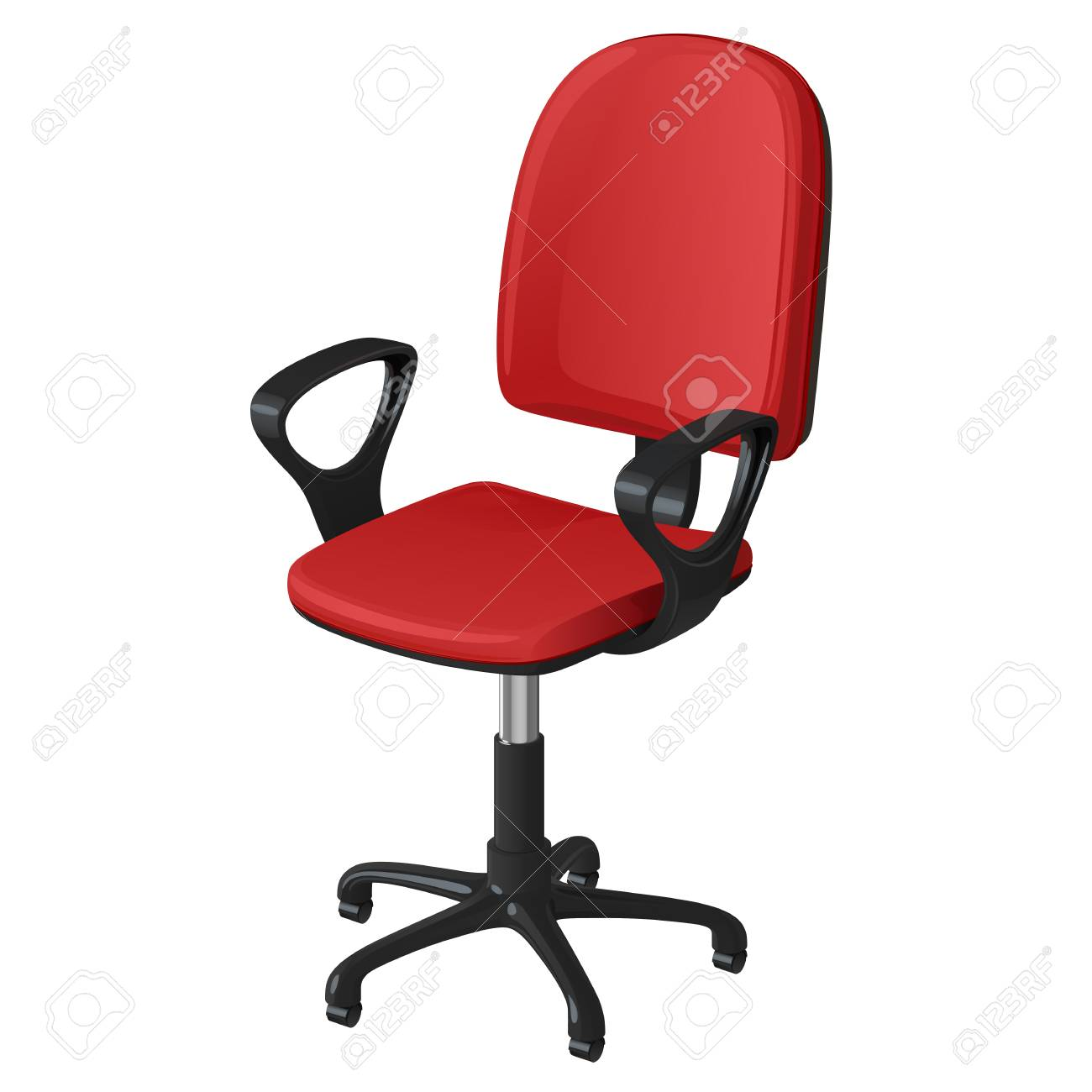 Pleasing Office Swivel Chair On Castors With Red Seat And Backrest And Beatyapartments Chair Design Images Beatyapartmentscom