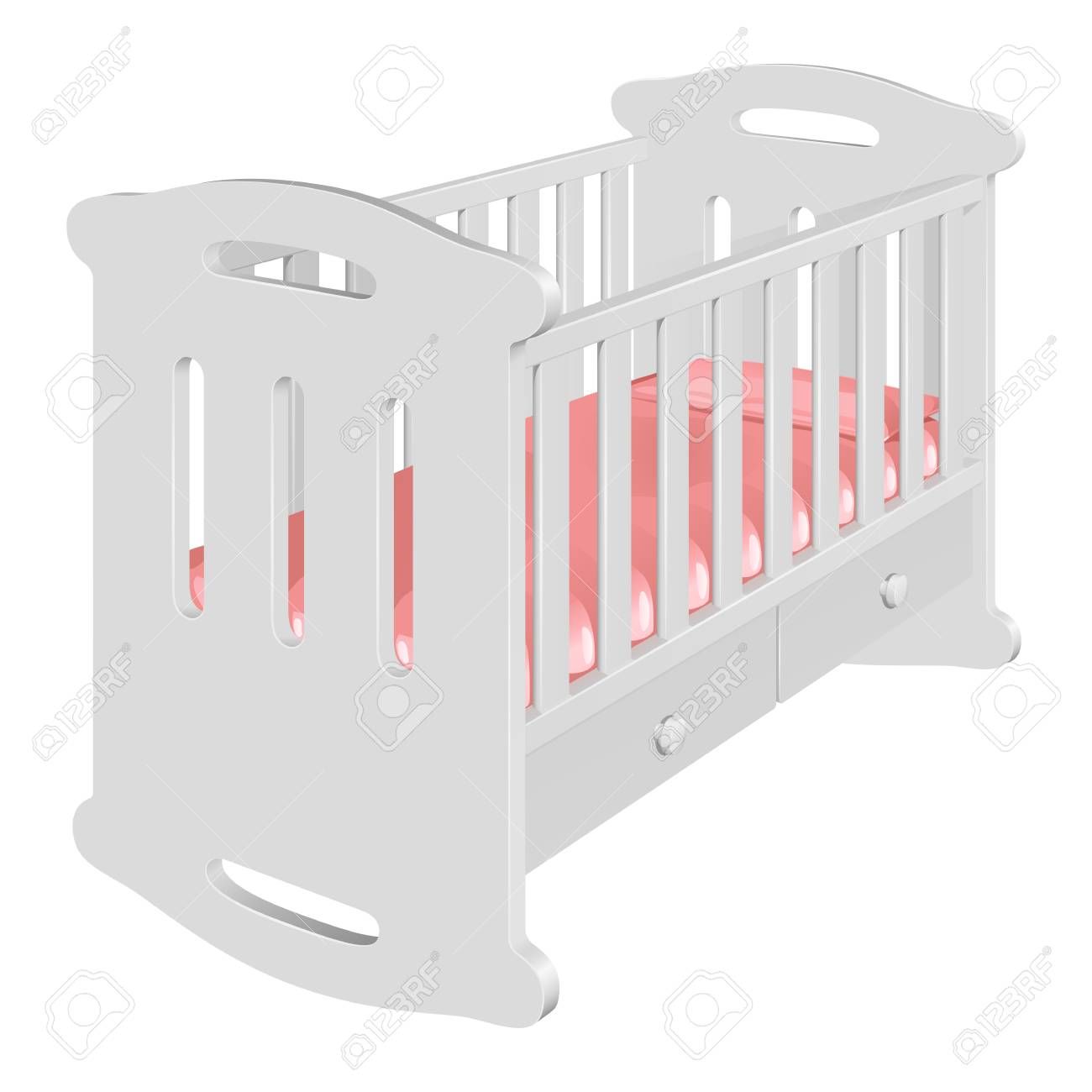 Amazing Childrens White Cot Rocking Chair For A Baby With High Bows Squirreltailoven Fun Painted Chair Ideas Images Squirreltailovenorg