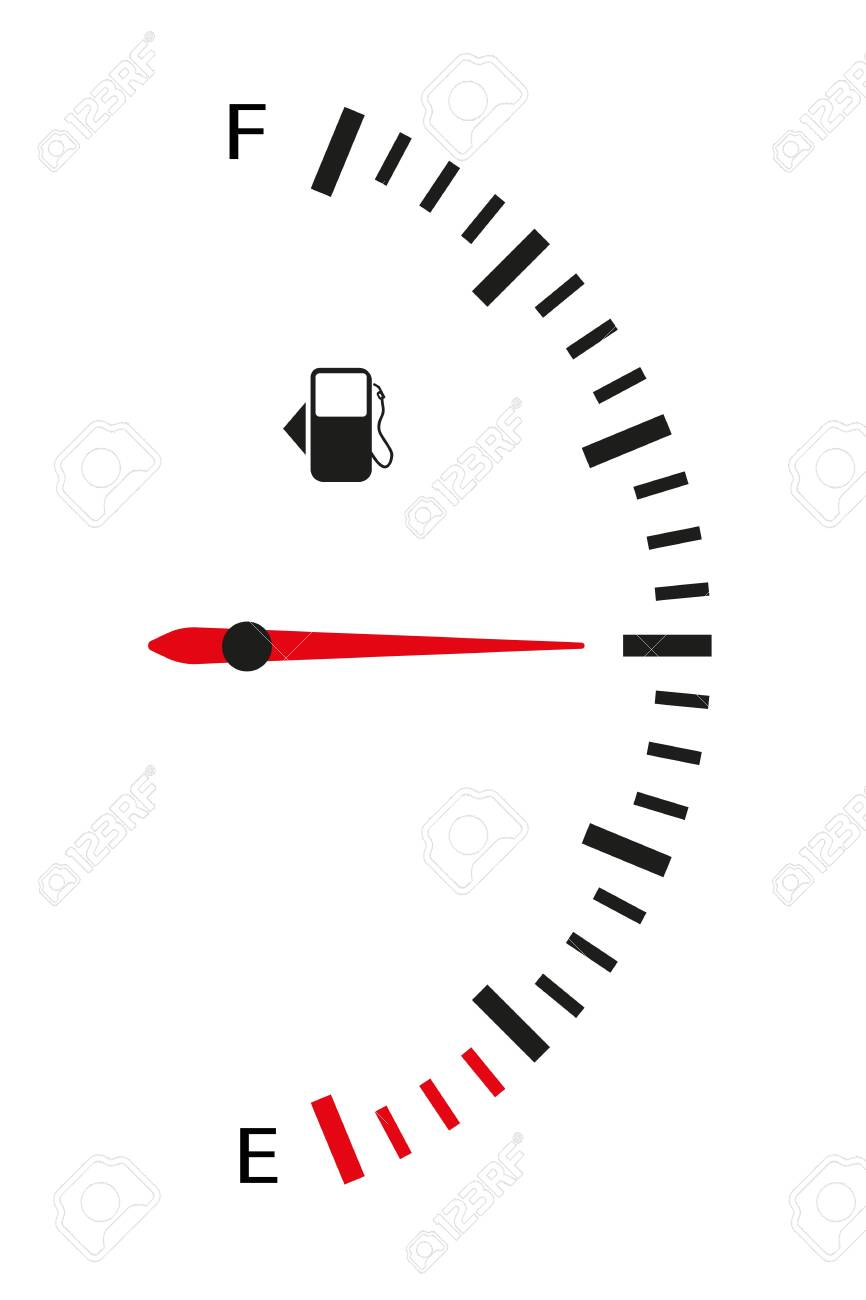The fuel sensor is vertical. Flat style. Isolated on white background. Vector illustration - 143552615