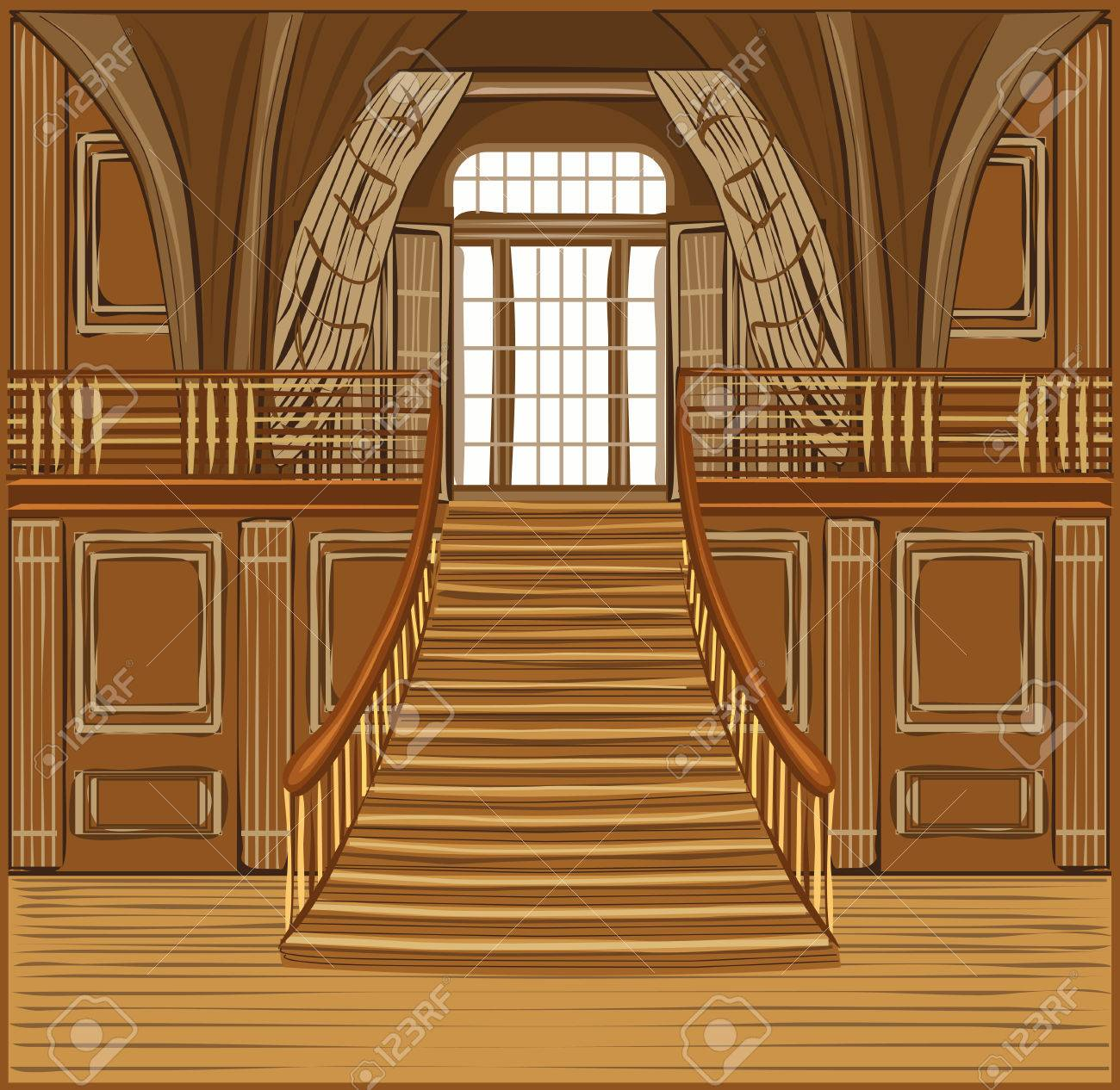 interior of the ballroom of magic castle royalty free cliparts