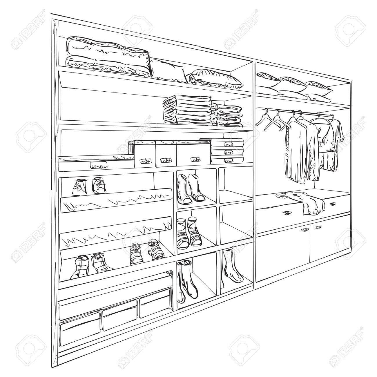 Kleiderschrank gezeichnet  Schrank Gezeichnet | jject.info