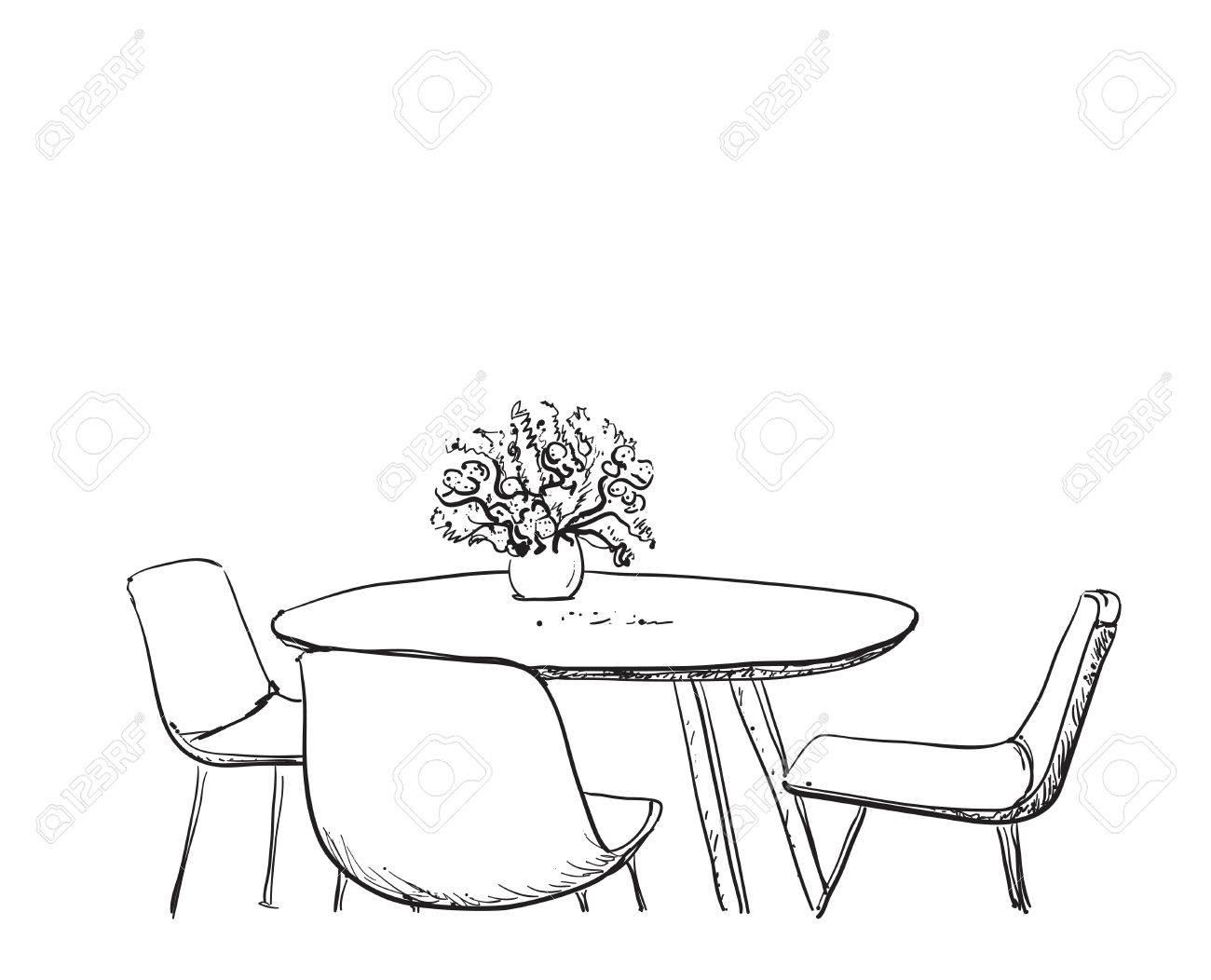 di bujo mesa con sillas