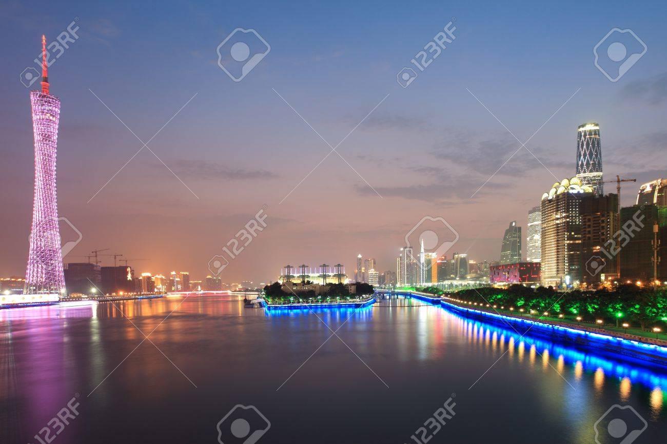 Zhujiang River and modern building of financial district in guangzhou china Stock Photo - 10642362