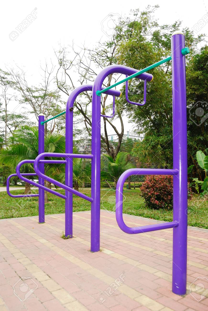 Fitness equipment in the park Stock Photo - 11289741
