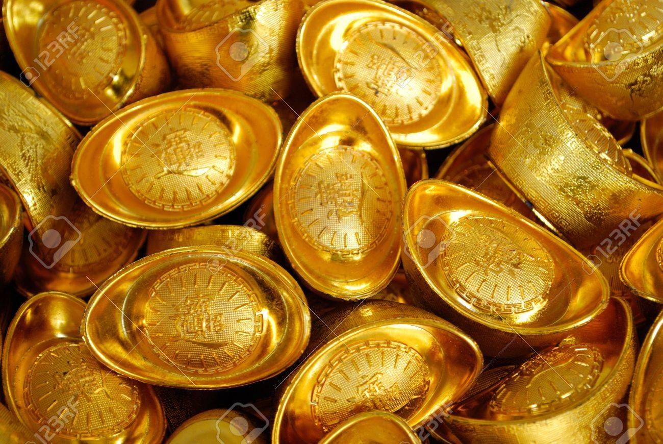 Essor De L Economie Asiatique Symbolisee Par Lingots D Or Banque D