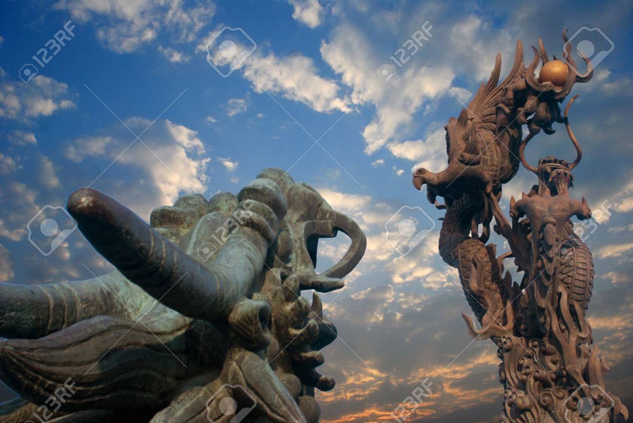 Orient one of the symbols of Chinese Dragon Culture Stock Photo - 11392828