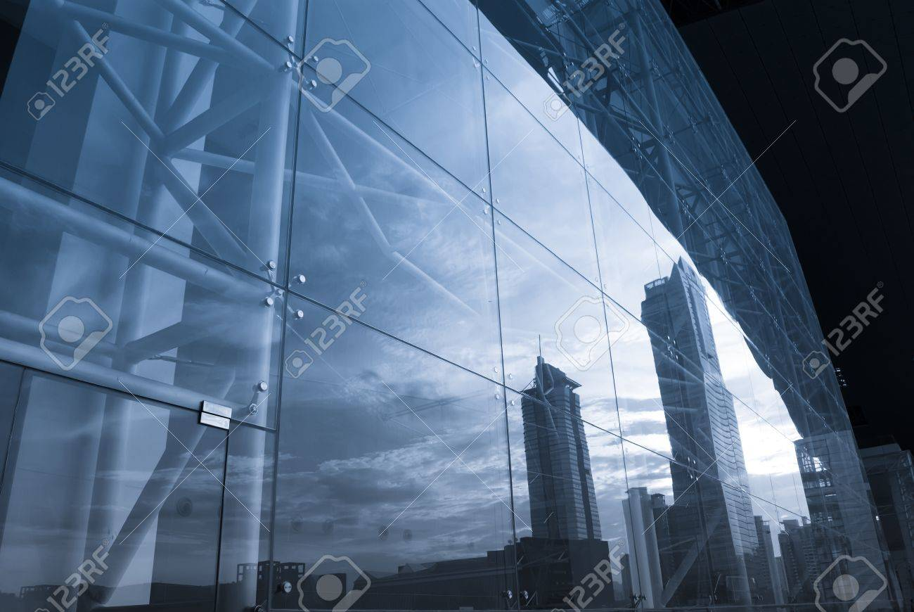 Close-up of office buildings now Stock Photo - 11392037