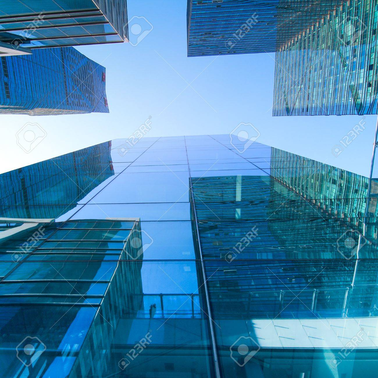 transparent glass wall of office building Stock Photo - 11393360