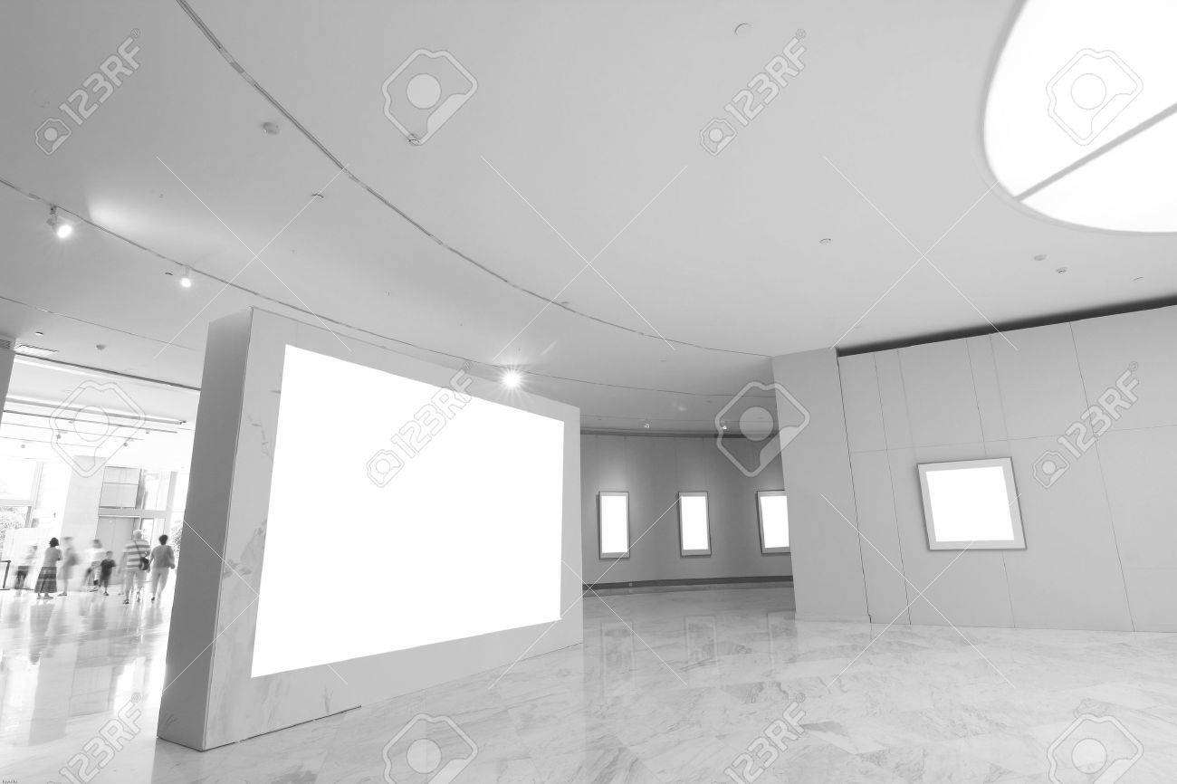 empty frames in a room against a white wall Stock Photo - 12212950