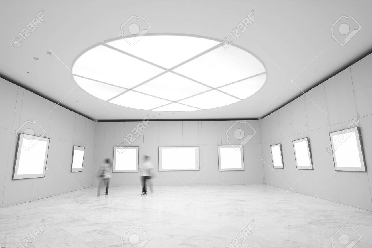 empty frames in a room against a white wall Stock Photo - 12212911