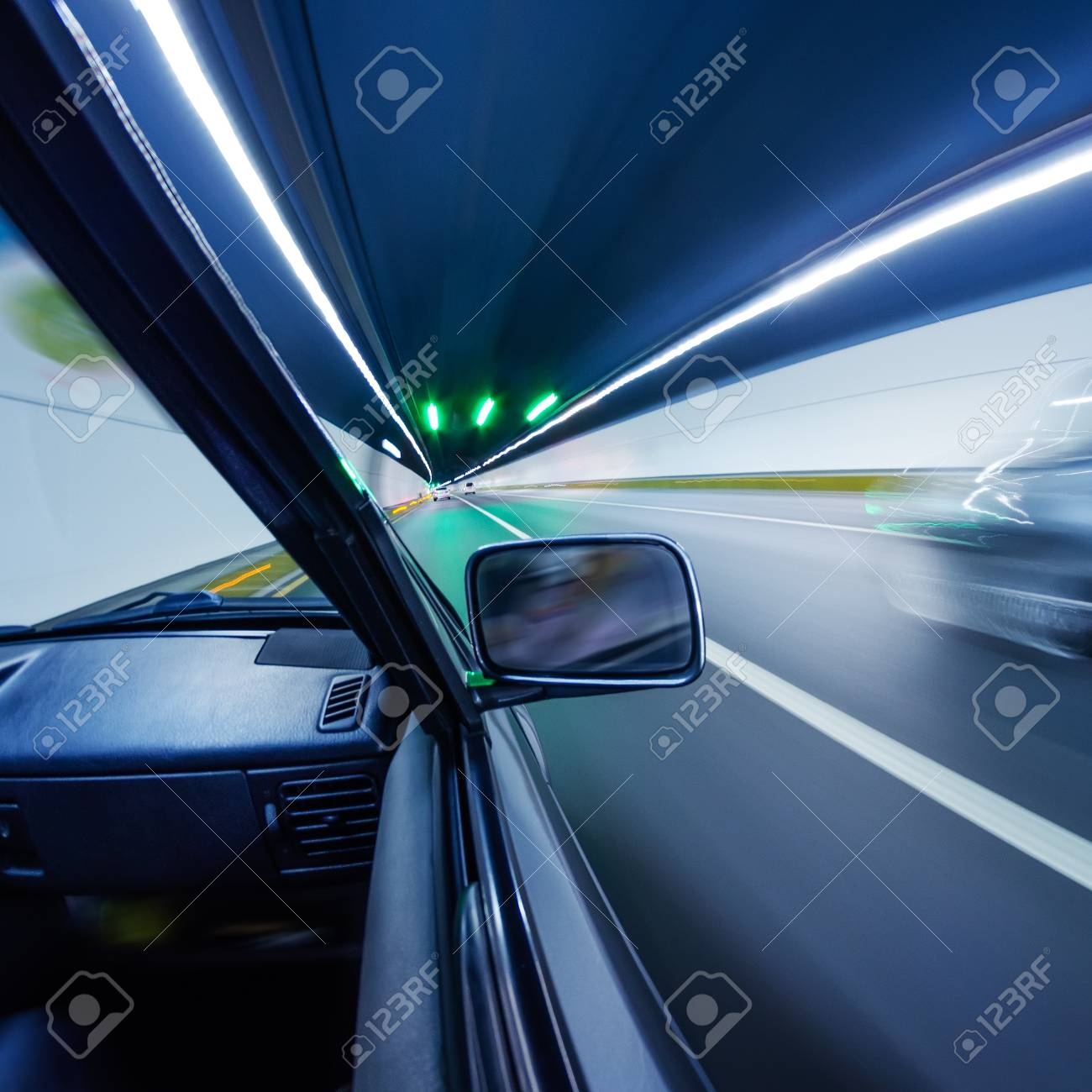 car on the tunnel wiht motion blur background Stock Photo - 14833053