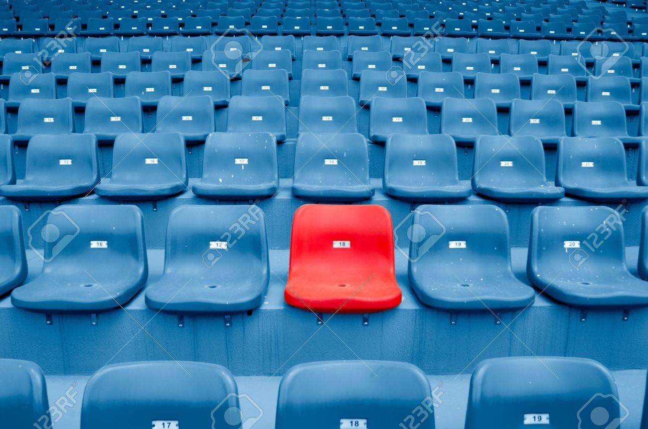 Empty Plastic Chairs At The Stadium Photo Picture And – Chair for Bleachers