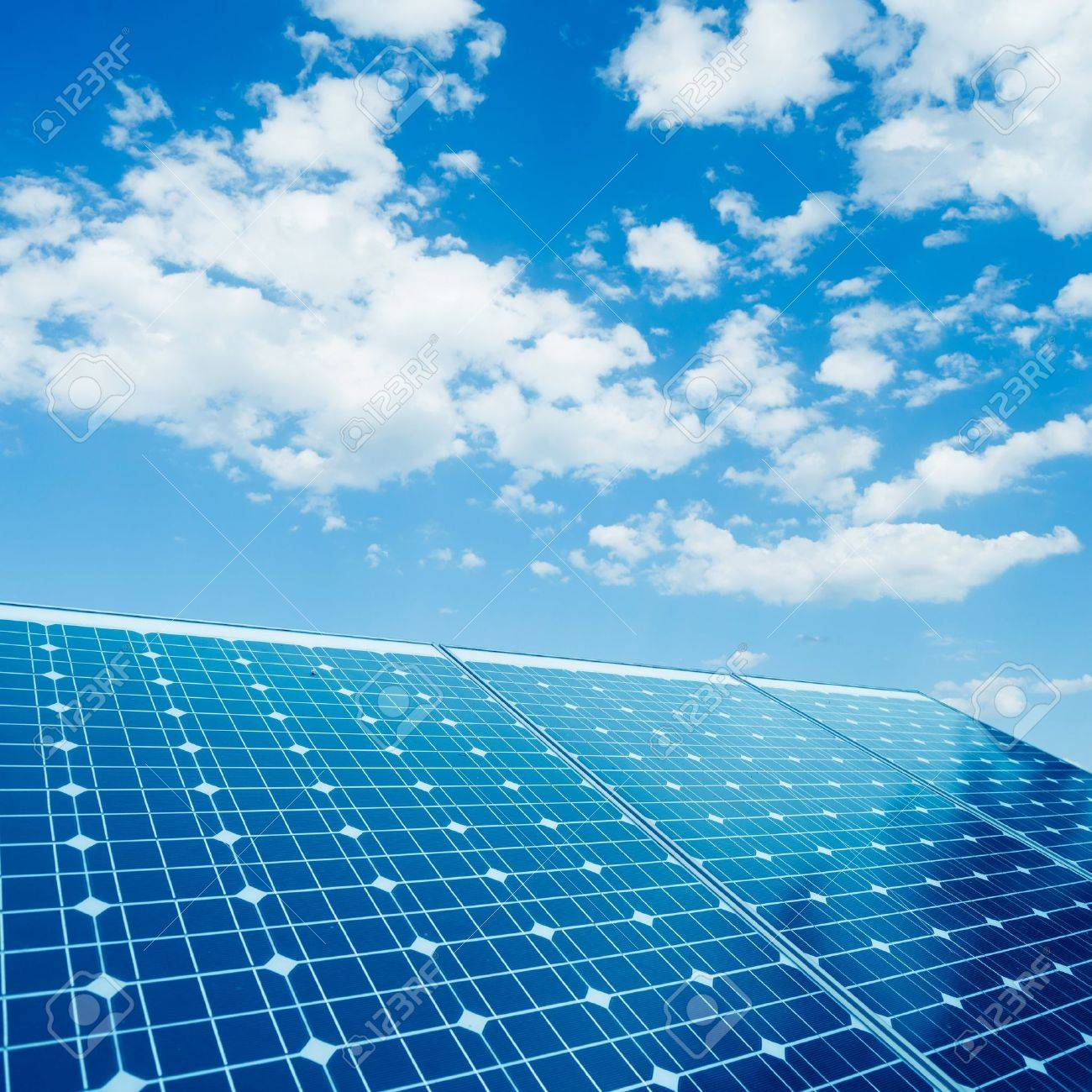 photovoltaic cells and sunlight background - 20183506
