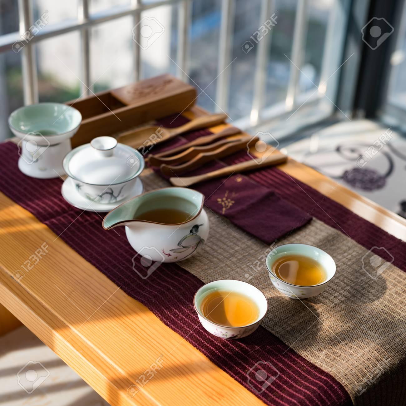 Photos dans la chambre chinoise cérémonie du thé