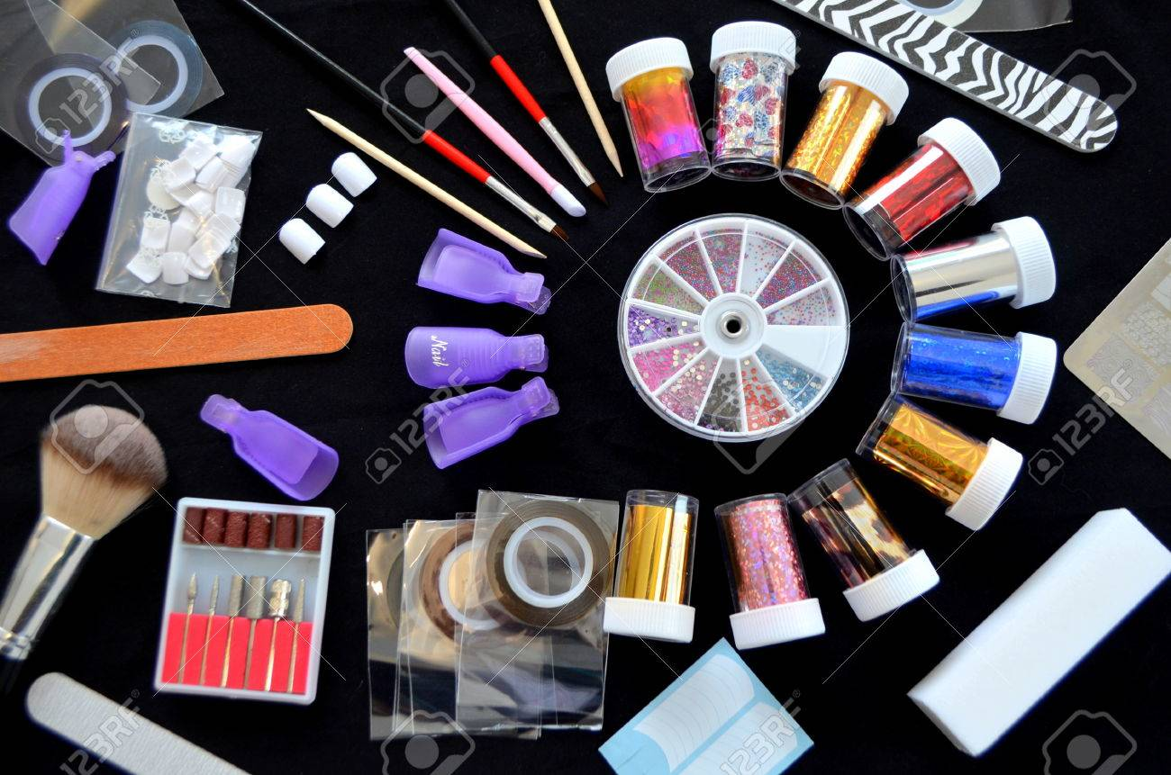 Foil For Nail Design, Set Decoration Stock Photo, Picture And ...
