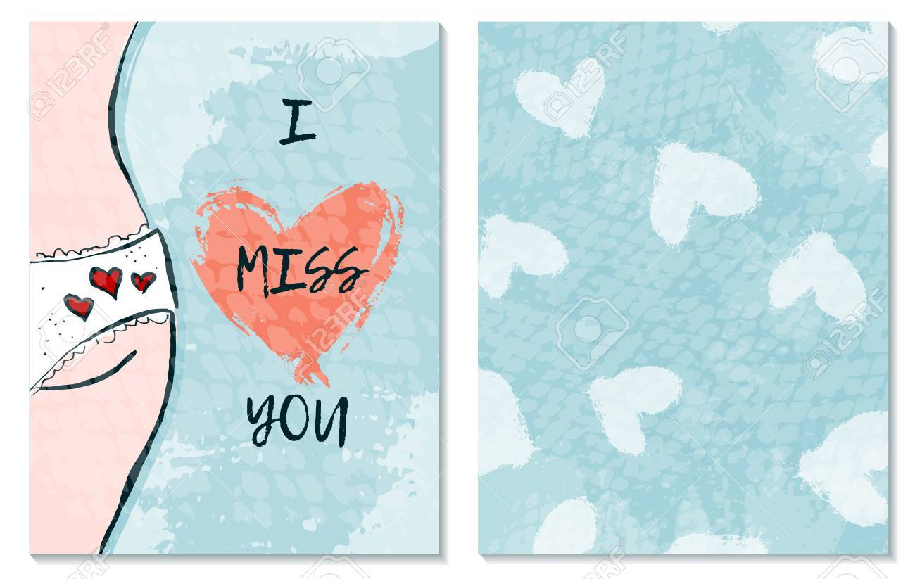 Greeting card for st valentine s day i miss you hand drawing greeting card for st valentine s day i miss you hand drawing m4hsunfo
