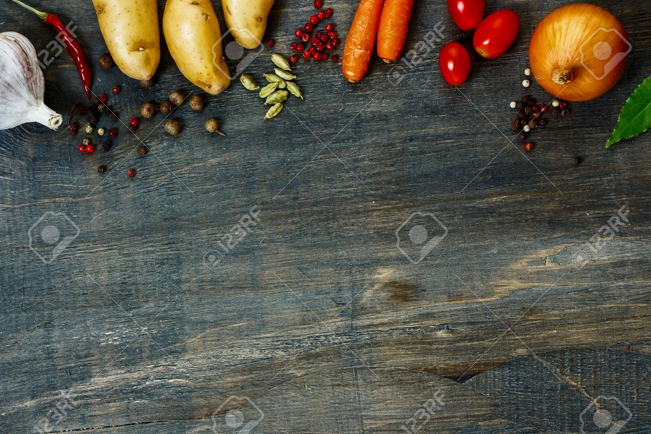 Design background vegetables with space for text. Healthy food from garden. - 47984336