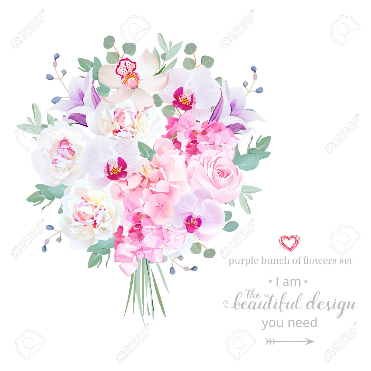Purple and pink flowers bouquet with peony rose hydrangea purple and pink flowers bouquet with peony rose hydrangea bellflower orchid izmirmasajfo