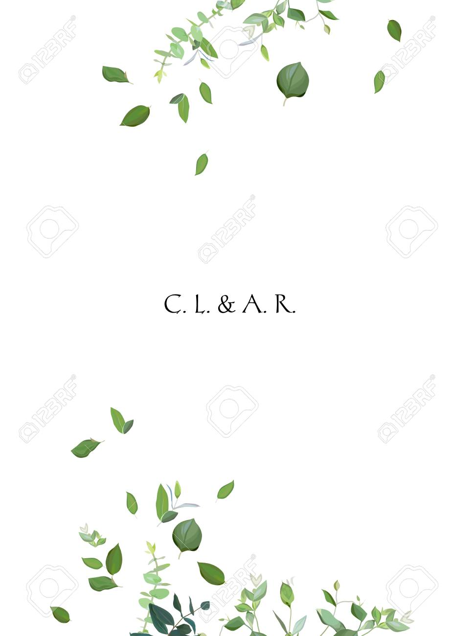Herbal minimalistic vector frame - 97899227