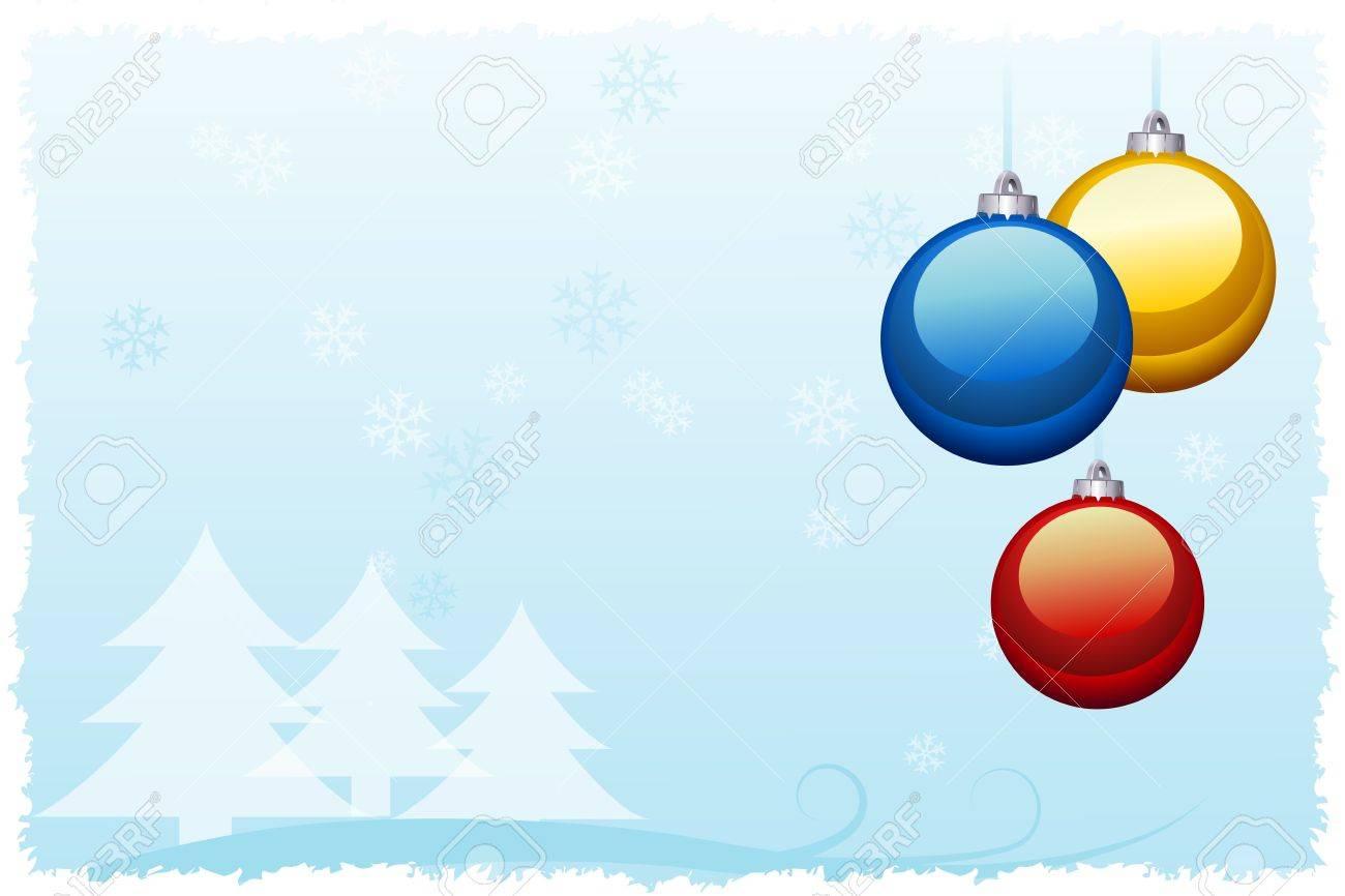 Tarjeta De Navidad Con Colores Decoraciones Para árboles De Navidad ...
