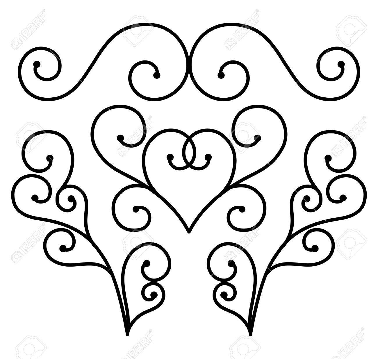 flourishes of ornament vertor royalty free cliparts vectors and rh 123rf com retro flourishes vector retro flourishes vector