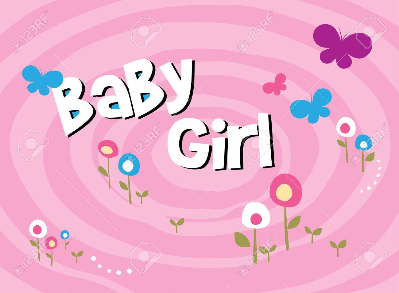 Scrapbook paper baby - Vector Flower Baby Girl Scrapbook Pattern Paper