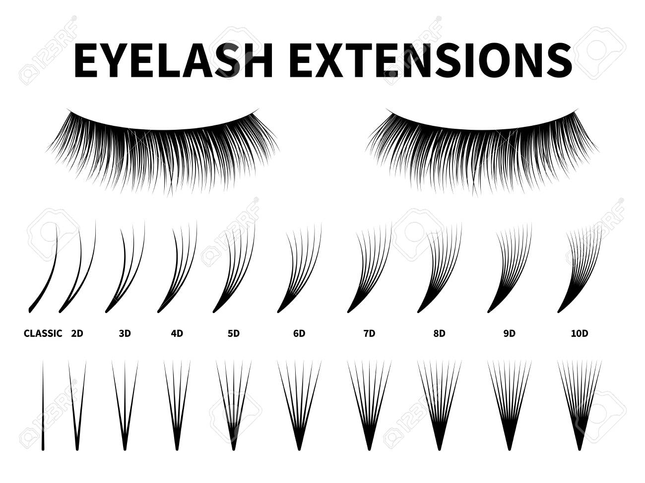 Eyelash extensions  Curling extension volume eyelashes, tweezers