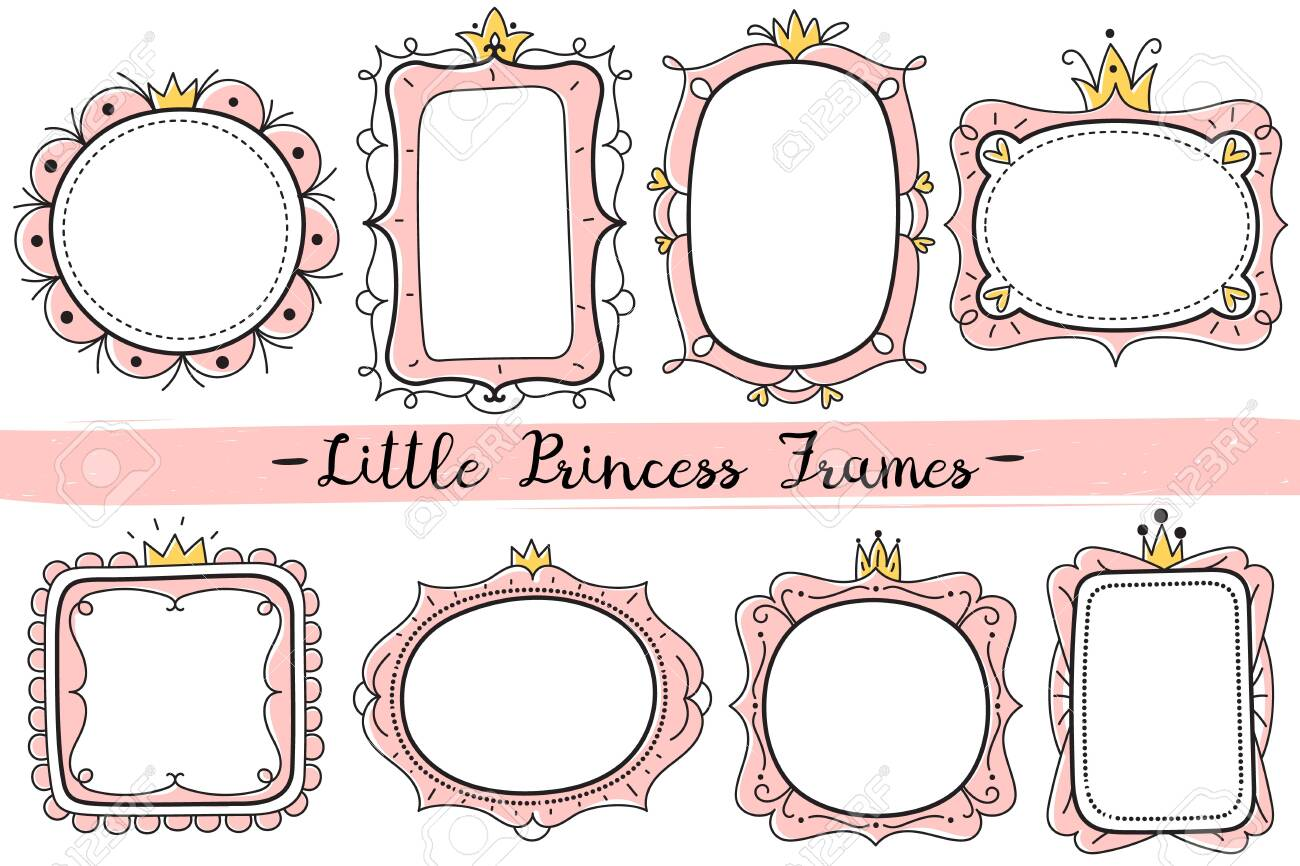 Little Princess Frames Pink Cute Mirrors Frame Baby Girl Birthday