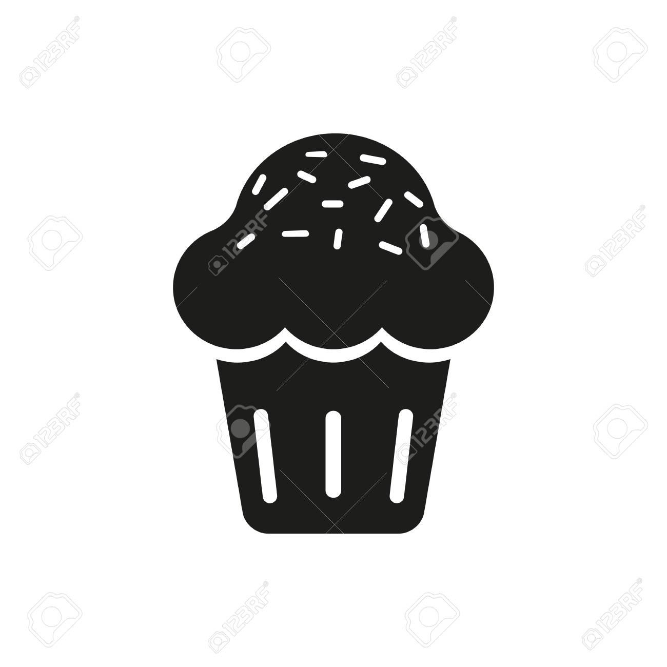 Susser Kleiner Kuchen Icon Vector Susser Kleiner Kuchen Icon Art