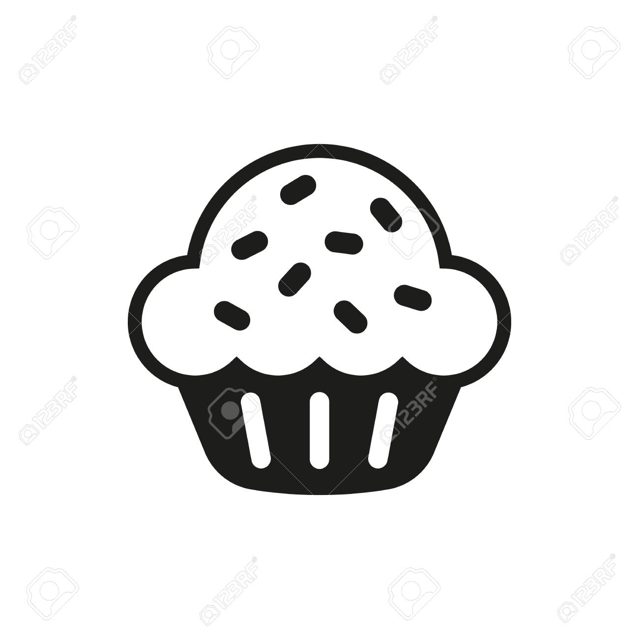 Susser Kuchen Ikonen Vektor Susse Kuchen Icon Art Susses Kuchen