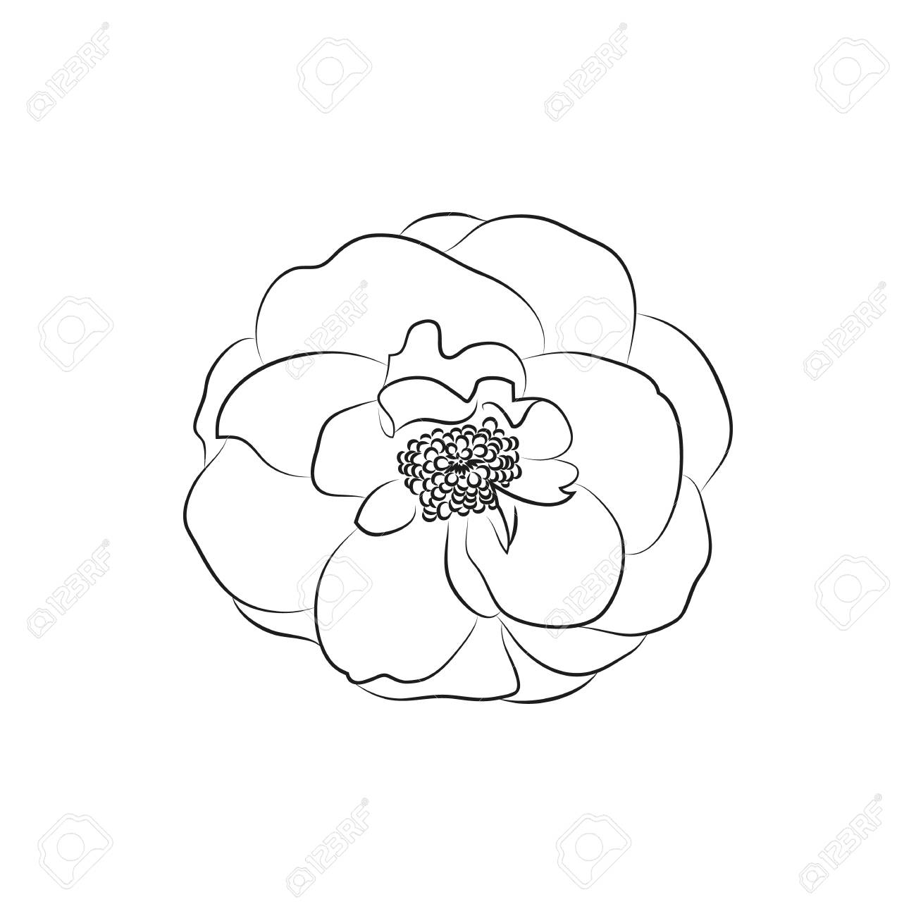 Beautiful Flower Lined Minimal Icon Created For Mobile Web And